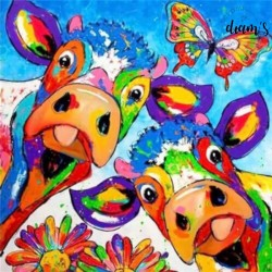 Vaches selfy multicolores -...