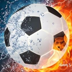 Ballon de foot eau/feu -...
