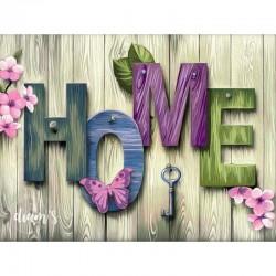 HOME sur planches de bois -...