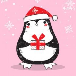 Petit pingouin apporte son...