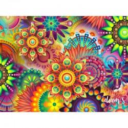 Mandala multicolore -...