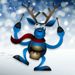 Renne batteur de Noël -...