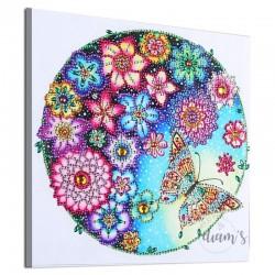 Ronde de fleurs et papillon...