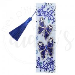 Marque-page Papillons bleus...