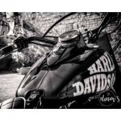 Moto Noir et Blanc -...