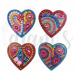 Lot de 4 magnets Coeurs...