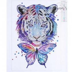 Tigre et Papillon - Strass...