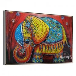 Éléphant rouge - Strass...