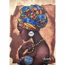 Profil de femme au turban -...