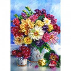 Bouquet de fleurs - Strass...