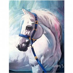 Cheval blanc - Toile...