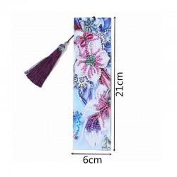 Marque Page Fleurs bleues...