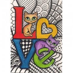 LOVE de chats - Toile...