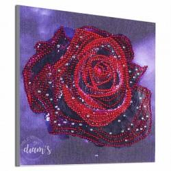 Rose rouge étincelante -...