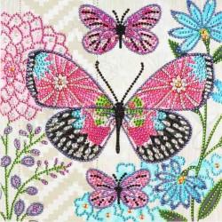 Trio de papillons dans les...