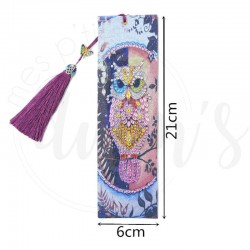 Marque Page Hibou rose  -...