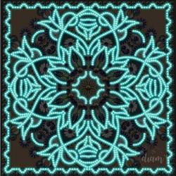 Mandala phosphorescent fond...