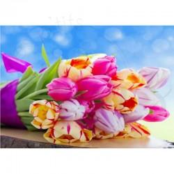 Bouquet de tulipes - Toile...