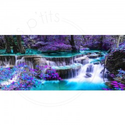 Cascade violette - Toile...