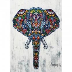 Tête d'éléphant - Strass...