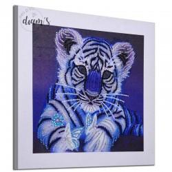 Lionceau bleu - Strass...