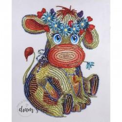 Vache avec une couronne de...