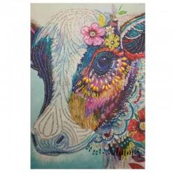 Jolie vache avec fleur à...